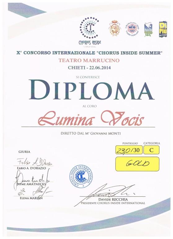 Diploma Chorus inside Chieti 001